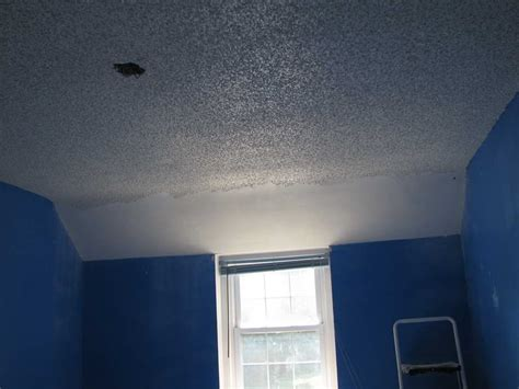 roofing popcorn ceiling paint with blue walls how to paint a popcorn ceiling how to remove