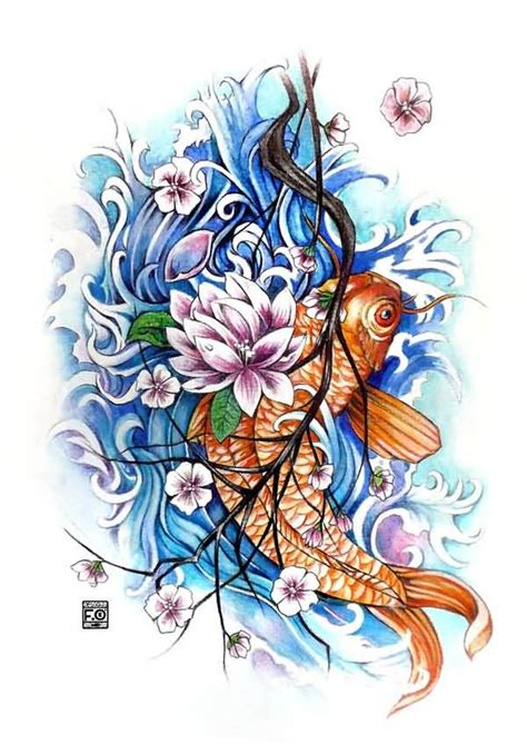 koi tattoo up or down koi tattoo ideas and koi tattoo designs page 26