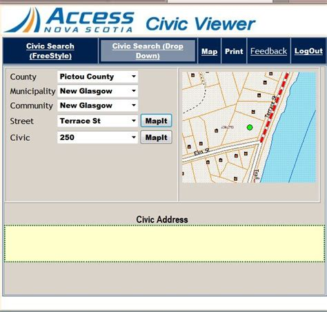 Address Lookup Scotia Access Scotia Civic Map Viewer Canadian Gis