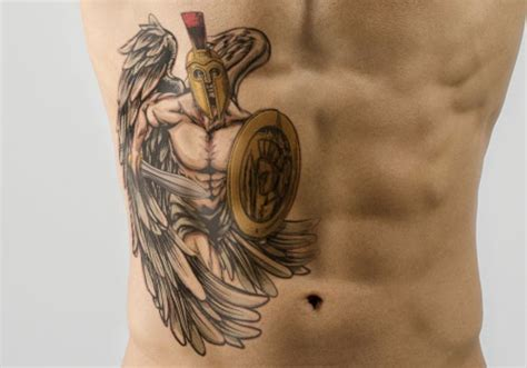 angel warrior tattoo spartan warrior meaning and some thrilling design ideas