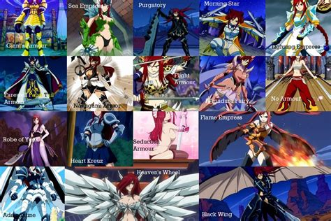 The gallery for --> Fairy Tail Guilds Logo Erza Scarlet Armor Types