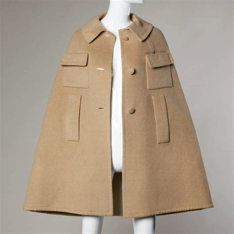 wool blend cape coat lord and taylor vintage 1970s soft cashmere wool blend