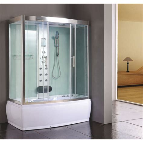 steam shower and bath aqualusso larosa 1500 steam shower and whirlpool bath at plumbing uk