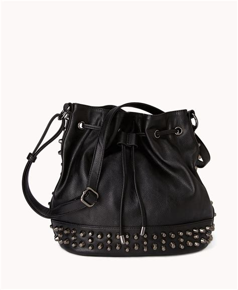 Handbags Wallets C 1 21 by Forever 21 Studded Bag In Black Lyst