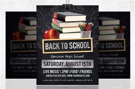 back to school poster template back to school flyer flyer templates creative market
