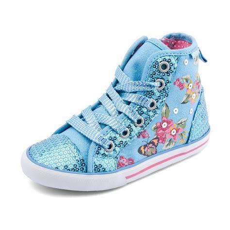 frangipani s blue sparkle canvas shoe boot