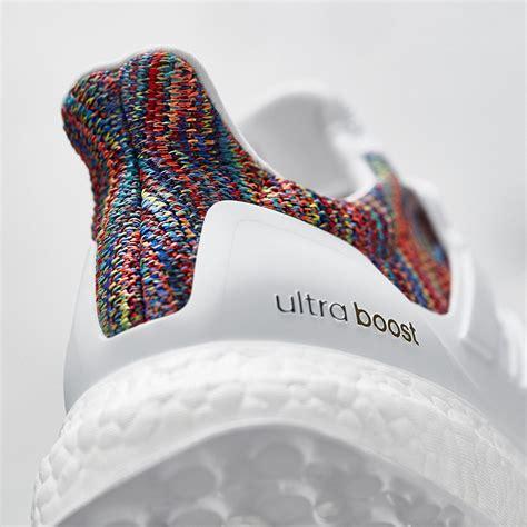 Sepatu Adidas Ultra Boost Rainbow White Multicolor Sneaker New 2017 adidas mi ultra boost rainbow in europa