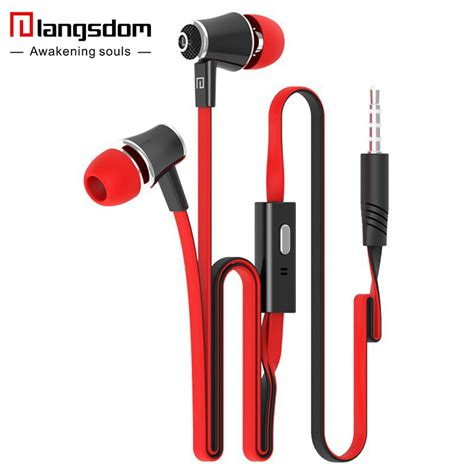 best mobile headphones official original langsdom jm21 in ear earphone colorful