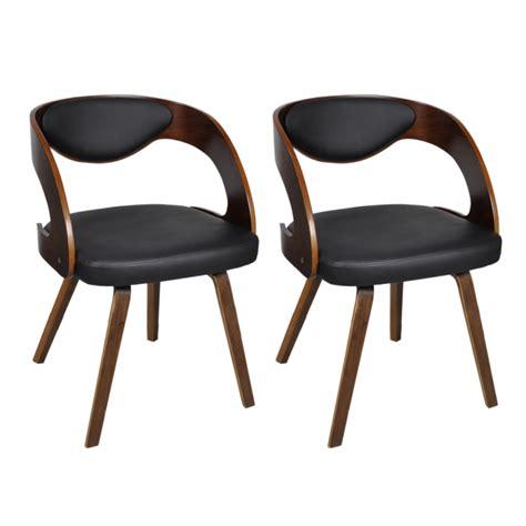 2 chaises de cuisine salon salle 224 manger design noir bois