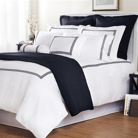 Navy Duvet Set Navy Stripe Baratto Stitch King Size 3 Duvet Cover