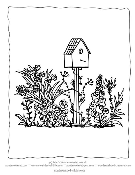 Garden Flowers Colouring Pages Spring Flower In Garden Flower Garden Coloring Page