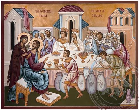Who Painted The Wedding At Cana by The Wedding At Cana Painted Icon Oramaworld