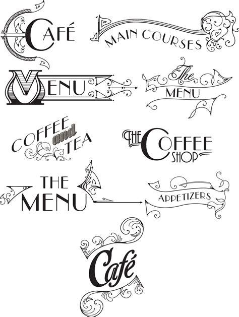 vintage menu design elements vector vintage menu original vector set free download