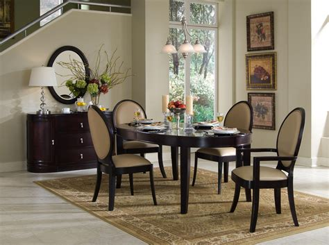 oval dining room table and chairs oval dining table set