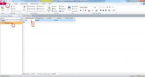 mudah membuat   ms access tips seputar