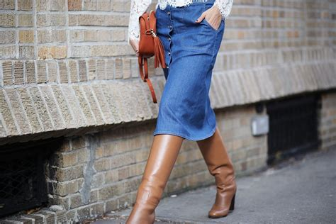 how to wear a denim skirt moderosa