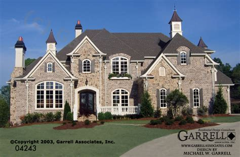 chateau lafayette french country house plan mon chateau manor house plan house plans by garrell