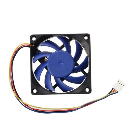 high cfm case fan 12v dc 32 70mm 4 pin computer case cfm pwm cpu pc fan blue