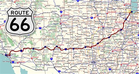 map of route 66 route 66 highway map pictures to pin on pinsdaddy