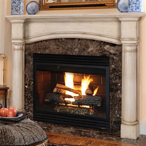 Country Fireplaces by Edinburgh 56 In X 42 In Wood Fireplace Mantel Surround