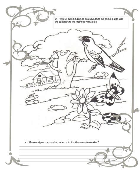 imagenes recursos naturales para imprimir guia recursos naturales az dibujos para colorear