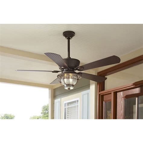 harbor outdoor ceiling fan remote shop harbor merrimack 52 in antique bronze outdoor
