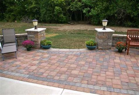 brick l post designs beautiful patios for backyard