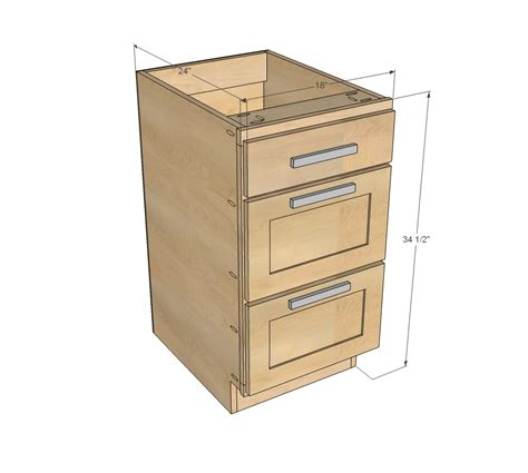 Kitchen Base Cabinet Plans by White 18 Quot Kitchen Cabinet Drawer Base Diy Projects