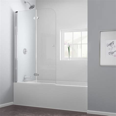 Shower Doors For Tubs Frameless Dreamline Aquafold 36 Frameless Hinged Tub Door Clear 1 4 Glass Door Chrome Finish