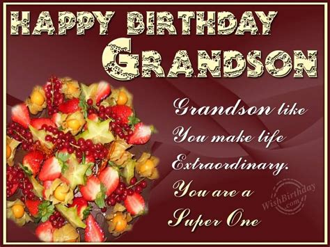 Grandson Birthday Wishes Greeting Cards Birthday Wishes For Grandson Nicewishes Com