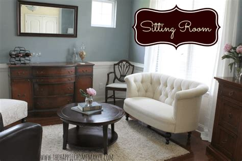 Dining Room Into Sitting Room Home Tour The Happier Homemaker