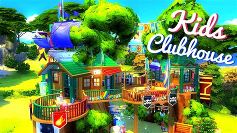 club houses for kids sims 4 house build kids clubhouse youtube