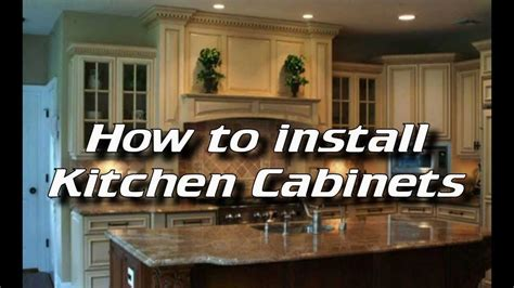 how to put in kitchen cabinets how to install kitchen cabinets installing kitchen
