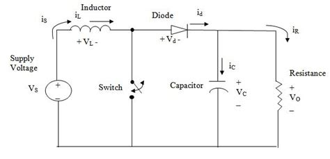 inductor voltage boost circuit e learning power electronics