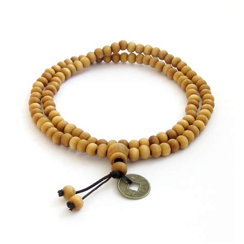 buddhist bead necklace wood tibetan buddhist 108 prayer mala