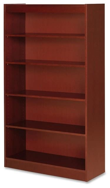 Bookcase Shelf Height by Lorell Five Shelf Panel Bookcase 36 Quot Width X 12 Quot Depth X