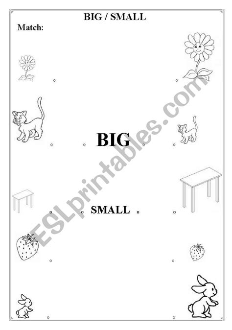 big and small esl worksheet by mpilar