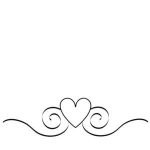 love clipart image border graphic with swirls and a heart
