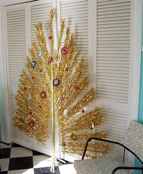 architecture products image vintage aluminum xmas tree flat evergleam quot peacock quot aluminum christmas trees a