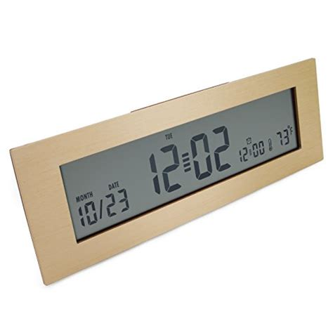 Small Digital Desk Clock Jcc Small Portable Rectangle Brushed Aluminum Battery Operated Digital Desk Alarm Clock