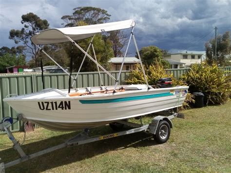 used tinny boat trailers for sale quintrex dart 370 tinny boat boeing trailer 15 hp mercury
