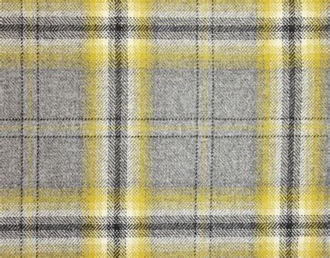 grey tartan upholstery fabric morlich wool fabric a grey chartreuse yellow and black