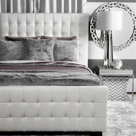 z gallerie tufted headboard west street bed white from z gallerie new place
