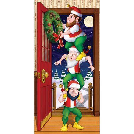 best christmas door covers elves door cover walmart