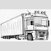 Semi Truck Drawing Coloring Page - Download & Print Online Coloring ...