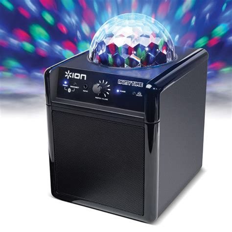 ion bluetooth speaker with lights ion audio party time wireless speaker system party time b h