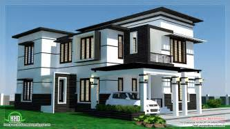 house plans contemporary 2500 sq 4 bedroom modern home design kerala home
