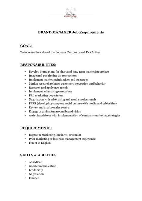 brand manager job description