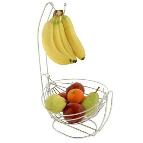 Fruit Hammock With Banana Hook 2 in 1 stainless steel banana hanger hook fruit basket