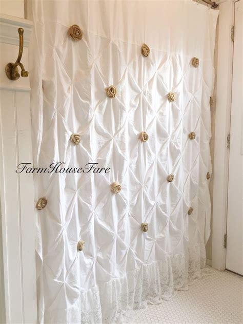 bella shabby chic ruffle shower curtain curtain